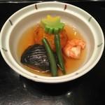 シェラトン都ホテル大阪 日本料理 うえまち - 炊合せ(南京饅頭)