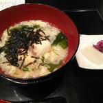 シェラトン都ホテル大阪 日本料理 うえまち - 留椀(白身魚雑炊)