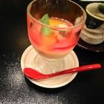 シェラトン都ホテル大阪 日本料理 うえまち - 口直し(豆乳ゼリー)
