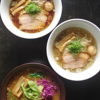 麺やBar 渦 - 料理写真:湘南湯麺3種