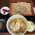 満留賀 - カツ丼セットのもりそば! 950円