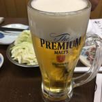 門前仲町の串屋横丁 - 生ビール 中