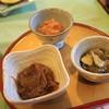休暇村支笏湖 - 料理写真:先付の3種