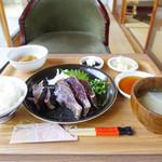 実家カフェ山田 - 鰹の藁焼き塩タタキ定食☆