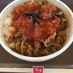 すき家 - なすアラビアータ牛丼(2017.06現在)