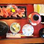 和食処 山女魚 - お造り御膳 1,020円。   2017.06.03