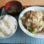 中園食堂 - 野菜炒め定食500円