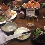 坐・和民 - 2017年6月。夏限定ゆったり3時間飲み放題付きWチーズダッカルビコース3500円。