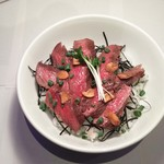 Katsu - 和牛のリブロースを使った、ステーキ丼