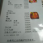 69042501 - 寿司メニュー