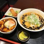 都来 - 焦がしマー油の担担麺・ミニ麻婆丼セット