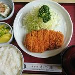 かつ源 - 2017年5月 ロースカツ定食 1300円