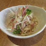 薫屋 - 料理写真:「茗荷と蒸し鶏の柚子胡椒和え」