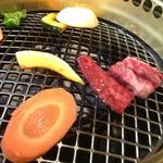 飛騨牛焼肉・韓国料理 丸明 - こちらはガスで焼きます