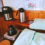 来未 - コーヒー&烏龍茶、ご自由にどうぞ!