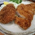 燕楽 - ロースカツ(定食)とコロッケ(単品)