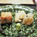 虎白 - 焼物  鱧 玉蜀黍