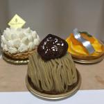神戸風月堂 - モンブラン、レモンケーキ、オレンジケーキ