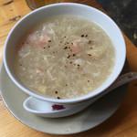 ベトナム酒場 ビアホイ - ズワイガニとアスパラガスのスープ