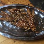 ベトナム酒場 ビアホイ - 鶏足の唐揚げ スイートチリソース 520円