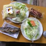 バーベキューハウス - 焼肉&野菜セット  焼きそば&野菜セット