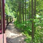 バーベキューハウス - 赤沢森林鉄道 トロッコ列車