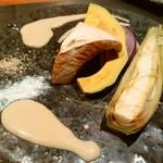 69064437 - 季節の焼き野菜 京味噌クリームソース