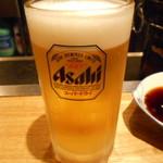 羊肉炭火焼 肉汁屋 - 生ビール