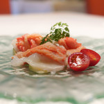 リストランテ ミ ディーカ - 北海道産ミズダコのカルパッチョと水ナスのサラダ