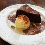 Les deux Bleue - オーガニックチョコとココナッツオイルのガトーショコラ