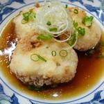 日本酒と蕎麦 中野いざ宵 - 里芋海老真丈の揚げ出し