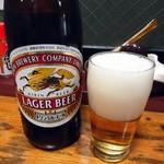 福来屋酒店 - 「瓶ビール」中瓶。350円也。