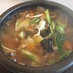 珉王 - 料理写真:石焼海鮮おこげ