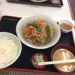 定食 稲 - 肉野菜炒め定食