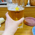 盛升 - 2017年4月 生ビール特大!なんとなく大きさ分かりますかね~?
