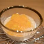 まき村 - 2017.6 クリームチーズのムース マンゴー ワインゼリー