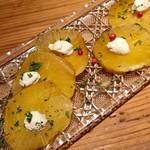 鉄板串 燻製 MOKU - いぶりがっこ&クリームチーズ