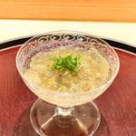 日本料理 太月 - スッポンとうにのジュレ