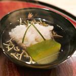 日本料理 太月 - 鱧と冬瓜、じゅんさいのお椀