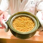 日本料理 太月 - とうもろこしのご飯