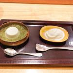 日本料理 太月 - ハニーアイス、キウイアイス
