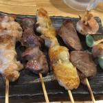 鶏炭 - 料理写真:170519金 東京 鶏炭 お任せ5本