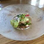 MUCHO -MODERN MEXICANO- - 真鯛とグレープフルーツのセヴィーチェ650円+税