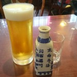 69089125 - 生ビールと紹興酒