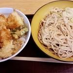 いわもとQ - 【2017/6】天丼セット(+ひやそば)