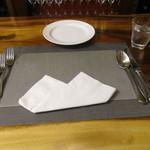 リストランテ ラ チャウ - テーブルセッティング