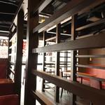 チキン マーケット - 間仕切りは空間を広く見せられる。