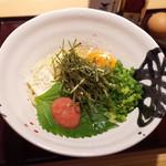 讃岐うどん あ季 - 料理写真:釜たまバターうどん+めんたいこ(750円・外税)
