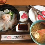 かにかにKAN魚粋 - ヒラメ丼 900円+じゃらんを見たでカニ汁付き♡
