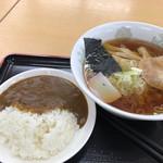 前沢サービスエリア(下り線)スナックコーナー - ラーメンミニカレーセット ¥730